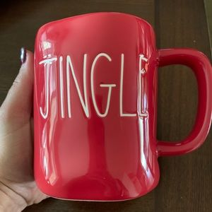 Rae Dunn red jingle mug new